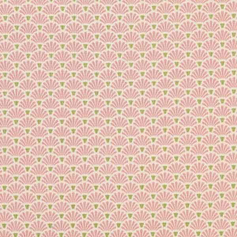 Tilda Flower Fan Pink Cotton Fabric, Apple Bloom Collection, Tilda Fabric 480841