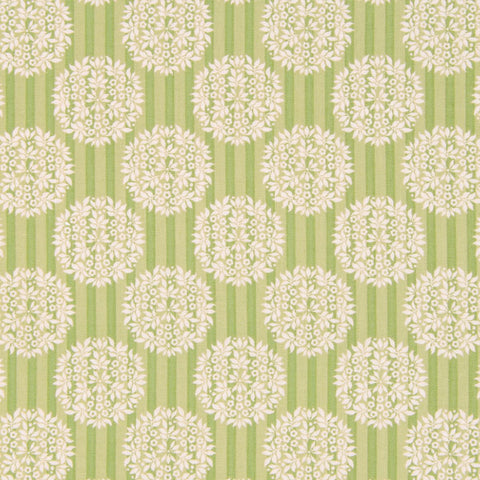 Tilda Flower Ball Olive Cotton Fat Quarter, Apple Bloom Collection, Tilda Fabric 480850