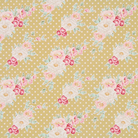 Cybill Tan Yellow Fat Quarter, Apple Bloom Collection, Tilda Fabric 480852