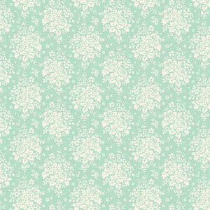 Tilda Summer Picnic Teal Cotton Fabric, Circus Collection, Tilda Fabric 481331 - Fabric and Ribbon
