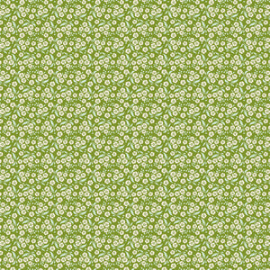 Tilda Forget Me Not Green Cotton Fabric, Circus Collection, Tilda Fabric 481339 - Fabric and Ribbon