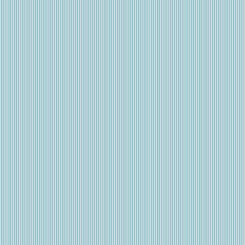 Green Stripe Fabric, Green and White Narrow Striped Cotton Fabric, Fine Striped Cotton Fabric by Andover Fabrics for Makower