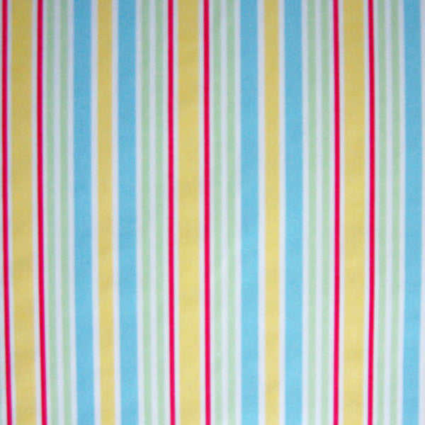 Toy Stripe by Clarke and Clarke (formerly Globaltex), Sunshine Yellow Striped Cotton Furnishing Fabric