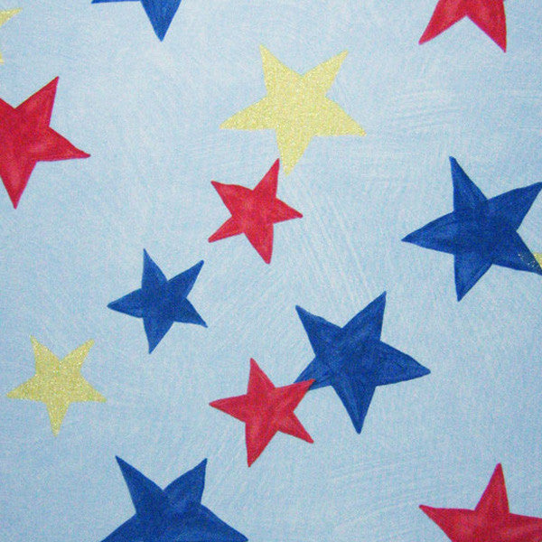 Blue Star Twinkle Cotton Furnishing Fabric by Clarke and Clarke (Globaltex), All At Sea Collection