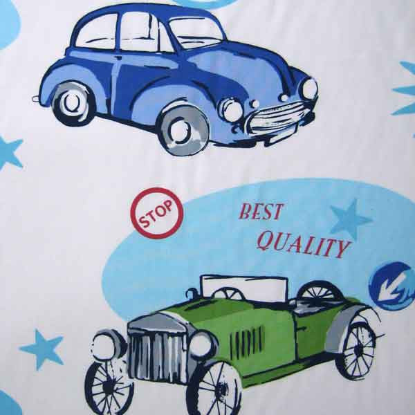 Classic Cars Cotton Furnishing Fabric, Vintage Cars by Clarke and Clarke (Globaltex)