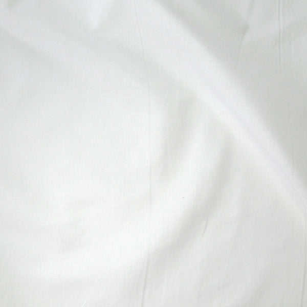 White Cotton Fabric by Makower 2000/W01 from their Spectrum Basics Collection