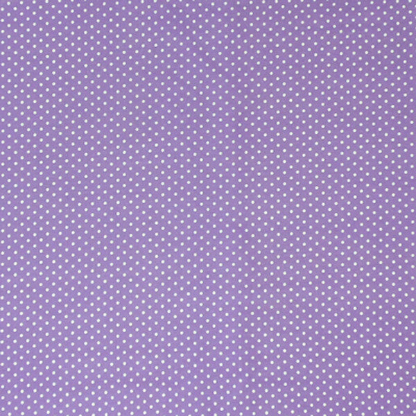 Purple Small Polka Dot Cotton Fabric, White on Purple Micro Dot Fabric - Fabric and Ribbon