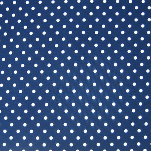 White on Navy Polka Dot Fabric