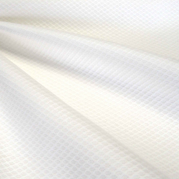 White Cotton Pique Fabric, Plain White Pique Fabric for Sewing and Crafts