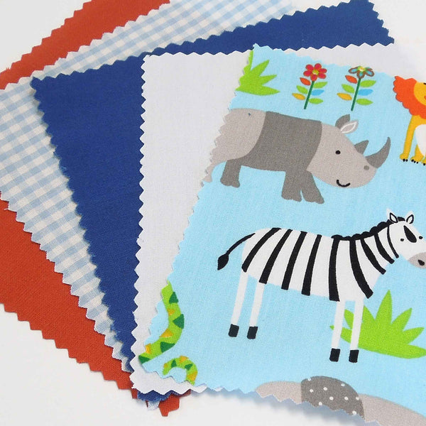 Baby Blue Jungle Animal 5 inch Patchwork Pack