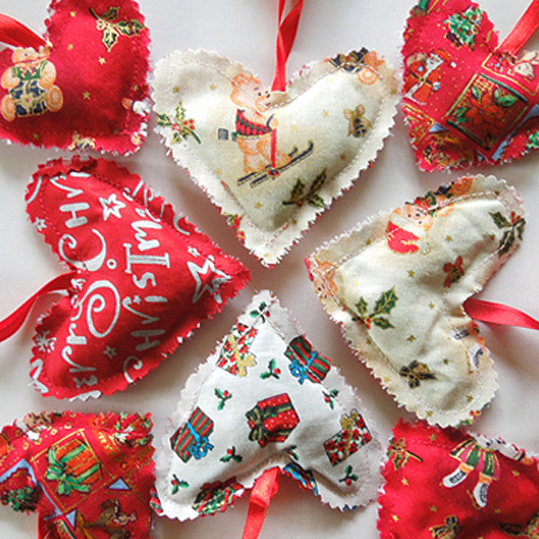 Lavender Filled Christmas Hearts Bunting