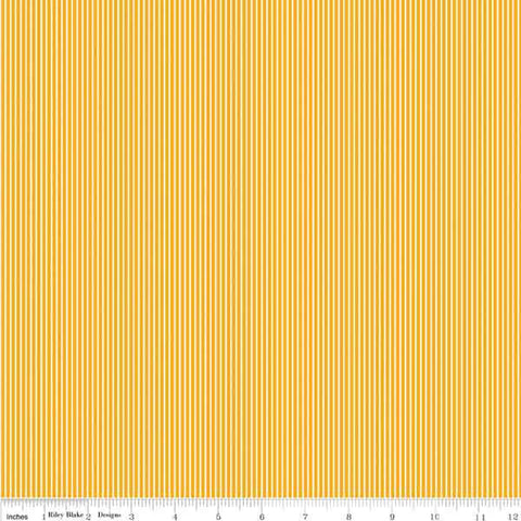 Yellow and white striped cotton by Riley Blake
