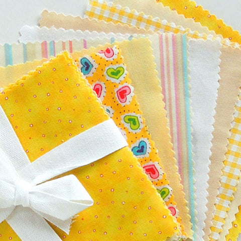 Yellow Charm Fabric Pack