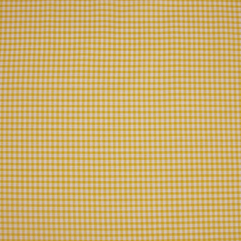 Yellow Gingham Fabric with 1/8 inch check, Yellow and White Checked Cotton Fabric