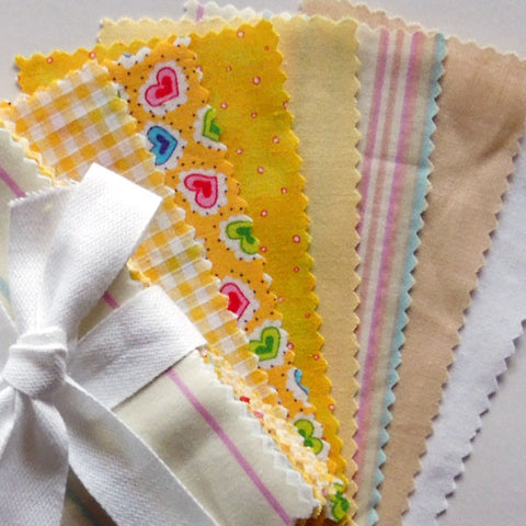 Yellow Mini Charm Fabric Pack