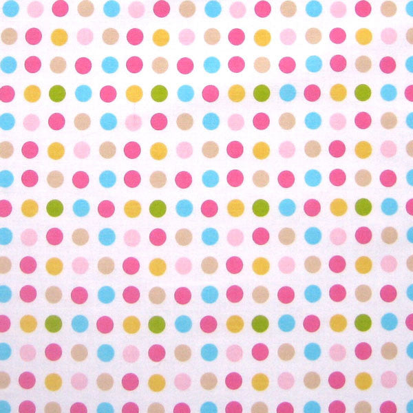 Yellow, Pink, Blue, Spotty Fabric by Globaltex