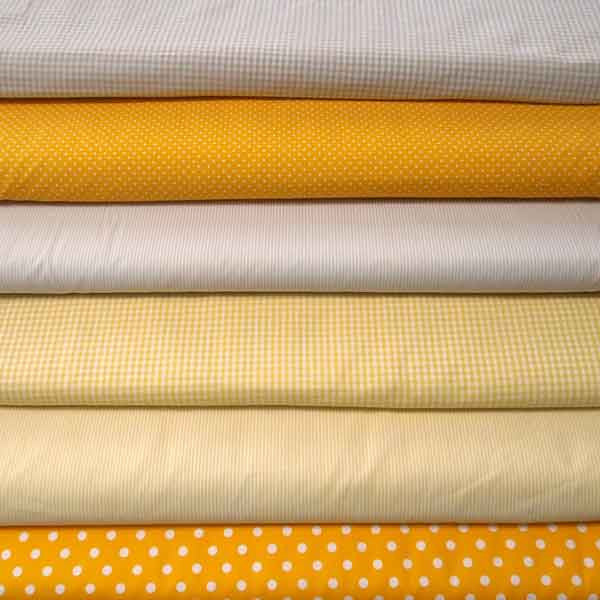 Gold Small Polka Dot Fabric, White on Yellow Polka Dot Cotton Fabric, Yellow Microdot Fabric
