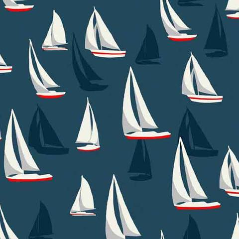 Seaside and nautical fabric