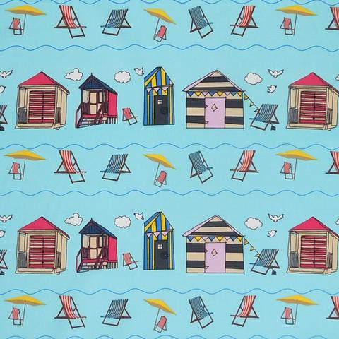 Beach hut fabric