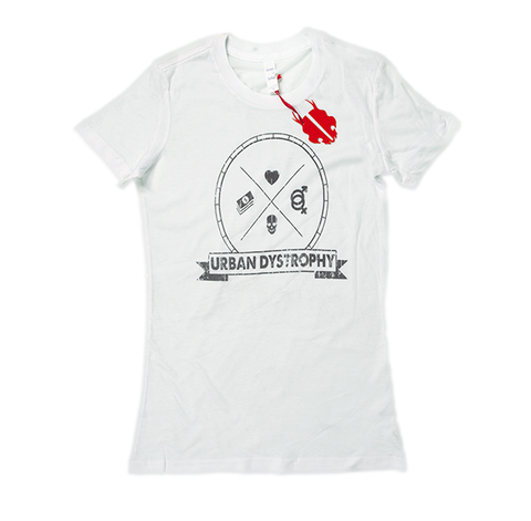 Women's White Urban Dystrophy T-Shirt