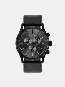 Sentry Chrono - Leather Black Gator