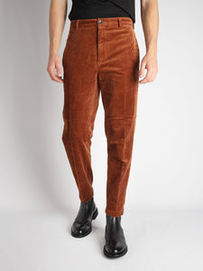 Pantalone 'George' Velluto - Ruggine