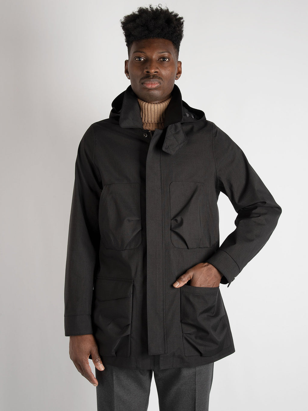 Parka 'Nesta Falck Mixed'  - Black