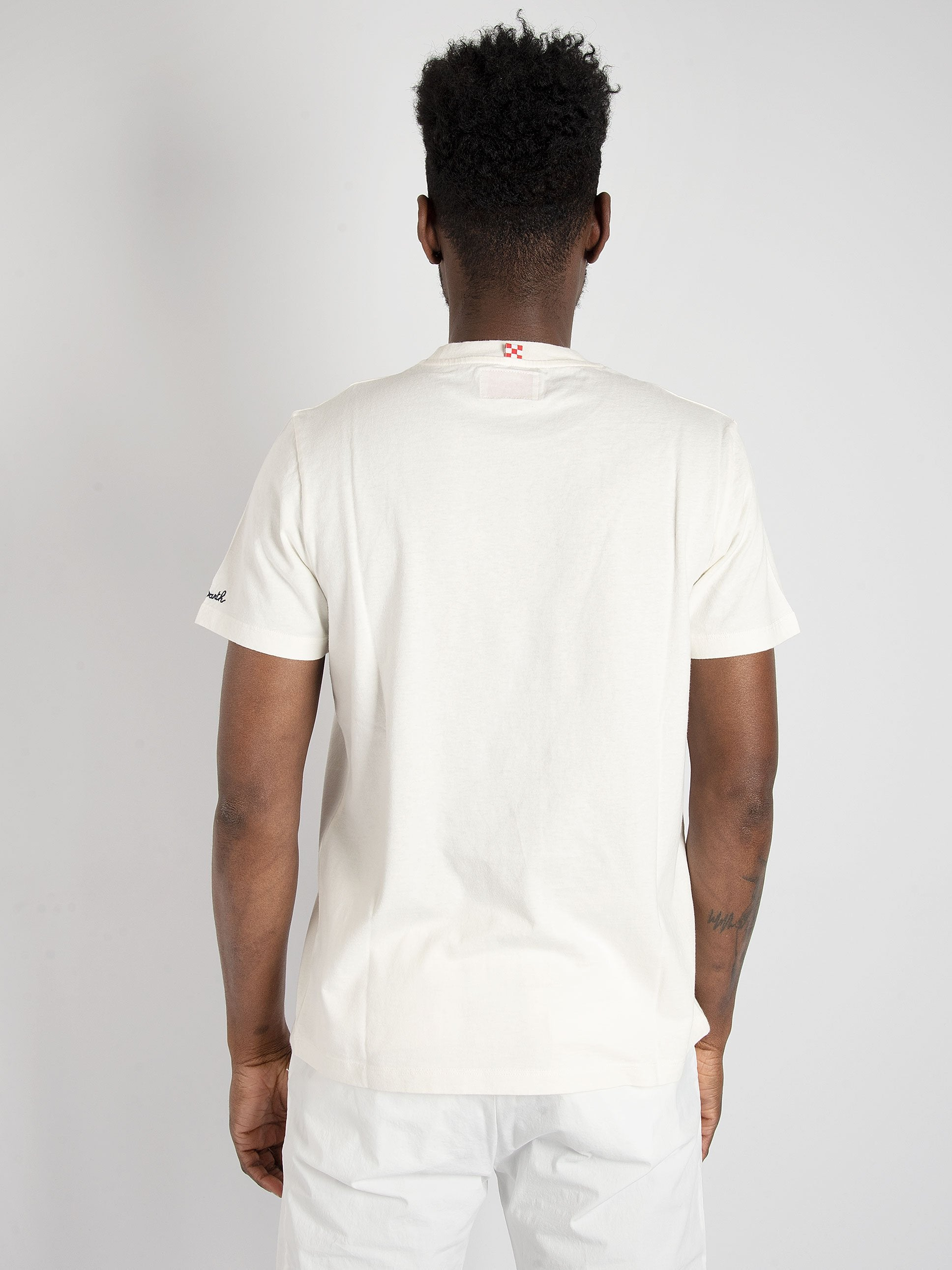 T-shirt 'Car Sea 11' - Bianco