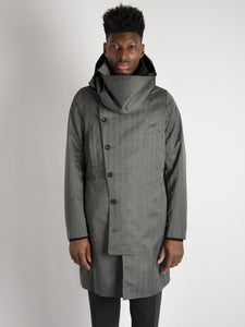 Double Breasted 'Oversized Herringbone' - Dark Gray