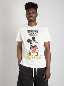 T-shirt 'Mickey Monday' - bianco