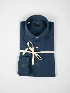 Camicia 'Washed' - Indaco