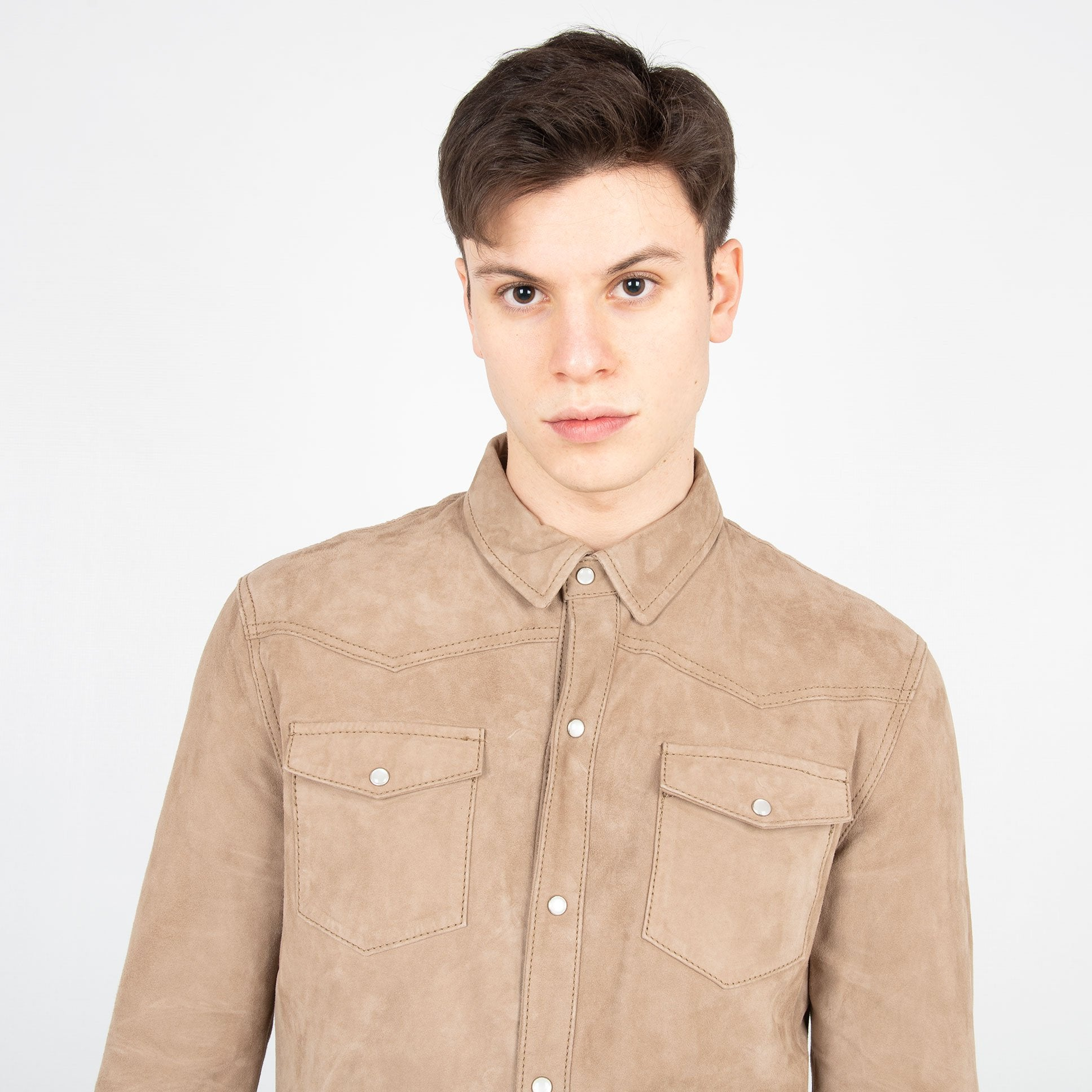 Giacca Camicia 'Syd' - Beige