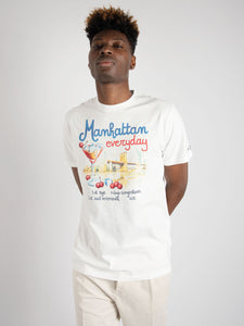 T-shirt 'Manhattan Drink' - Bianco