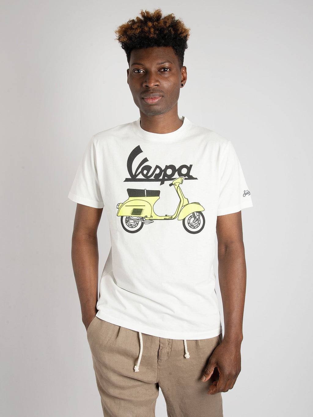 T-shirt 'Vespa Outline' - Bianco