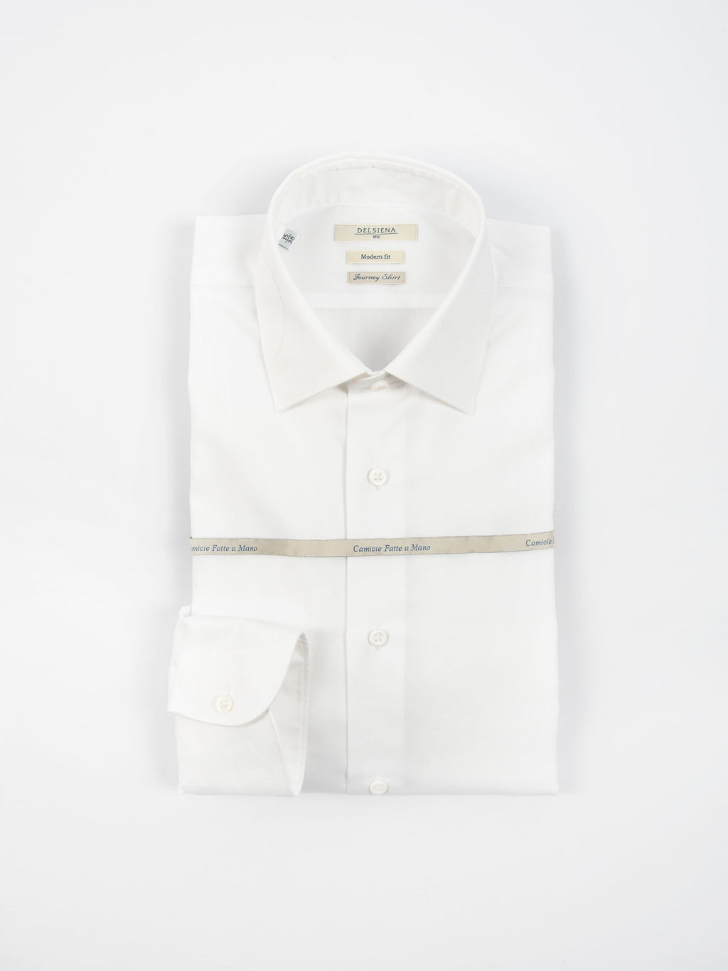 Camicia 'Journey Shirt' Microdiamantino - Bianco