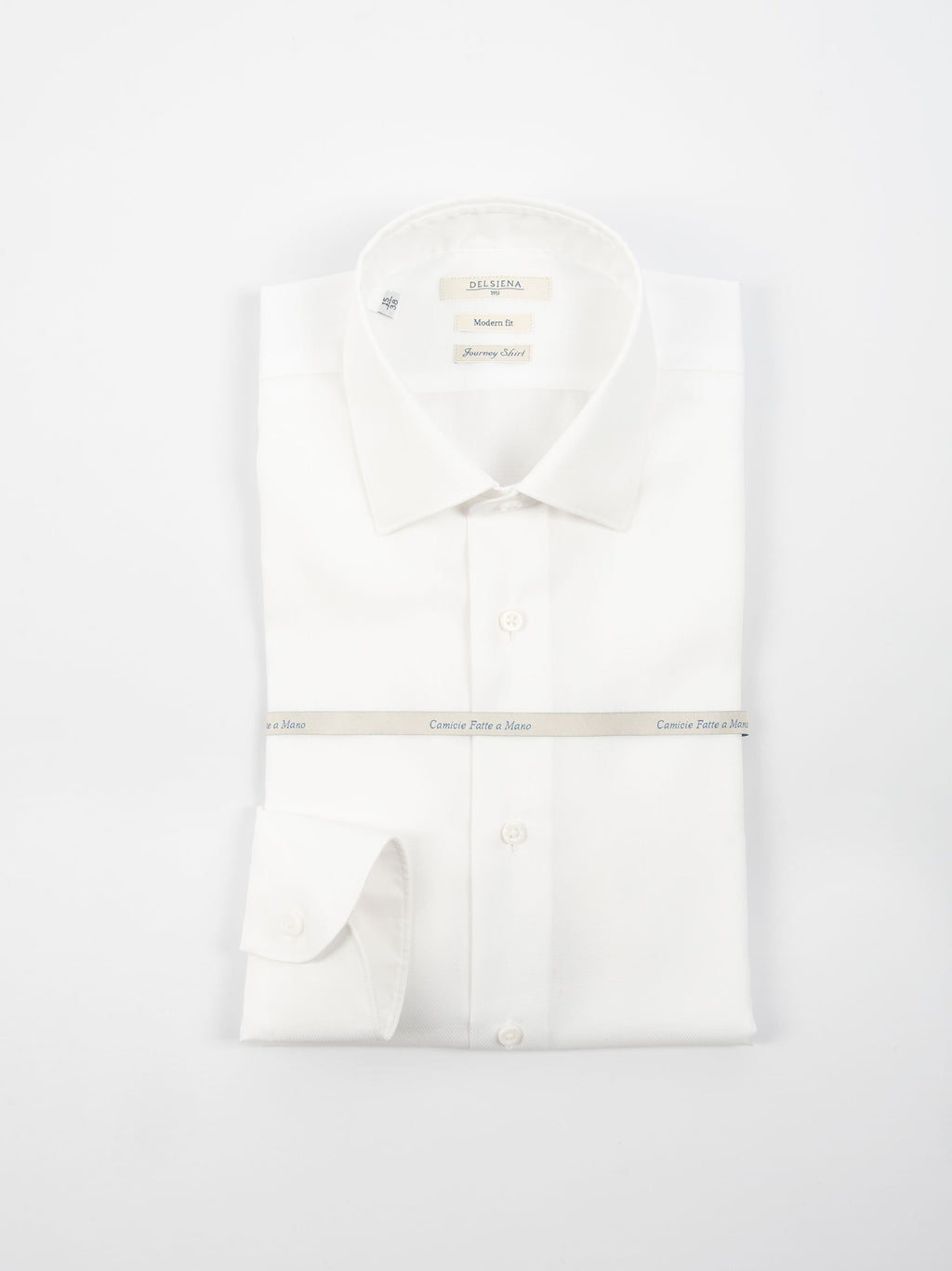 Camicia 'Journey Shirt' Microperata - Bianco