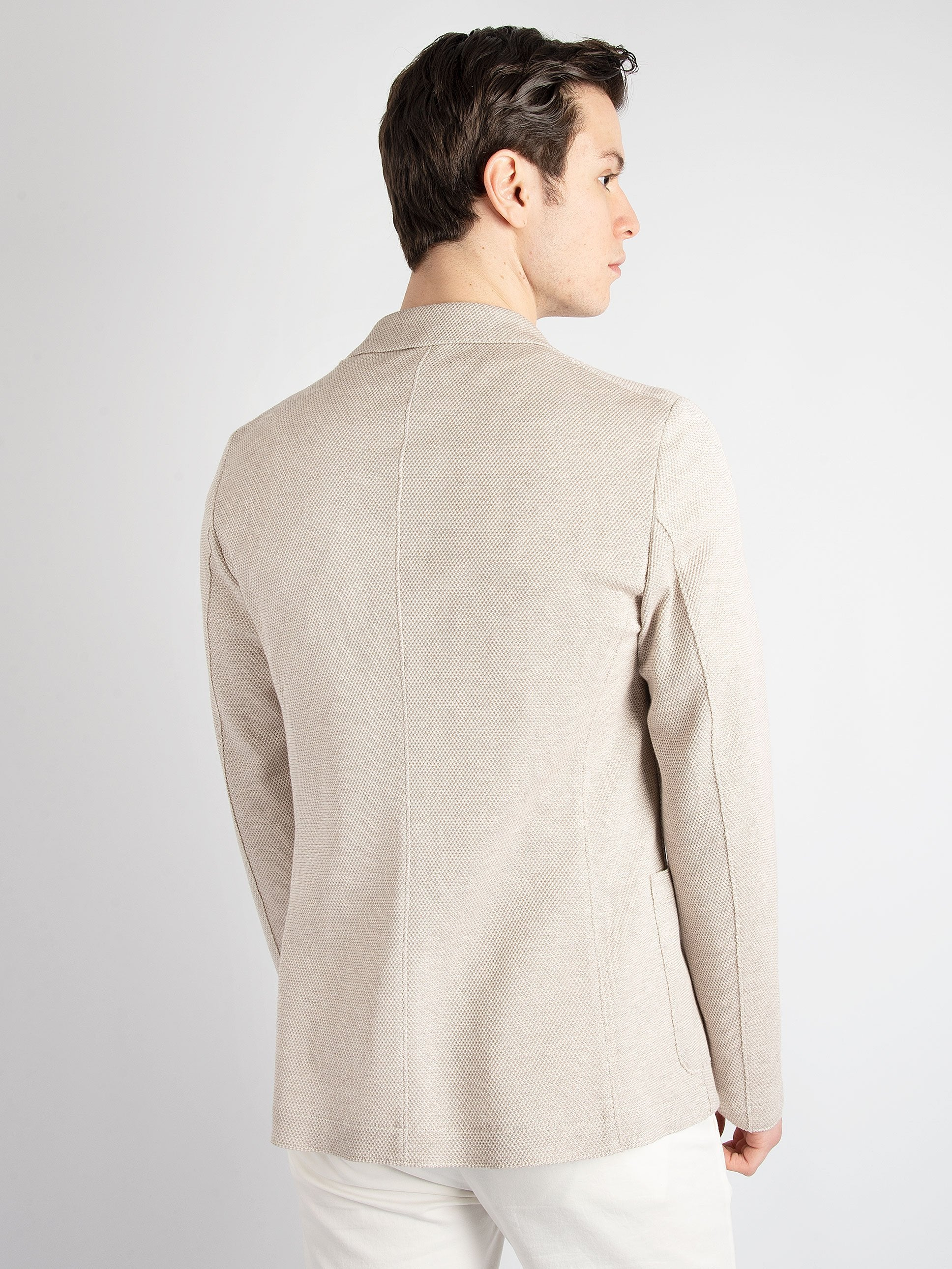 Giacca Jersey -  Beige