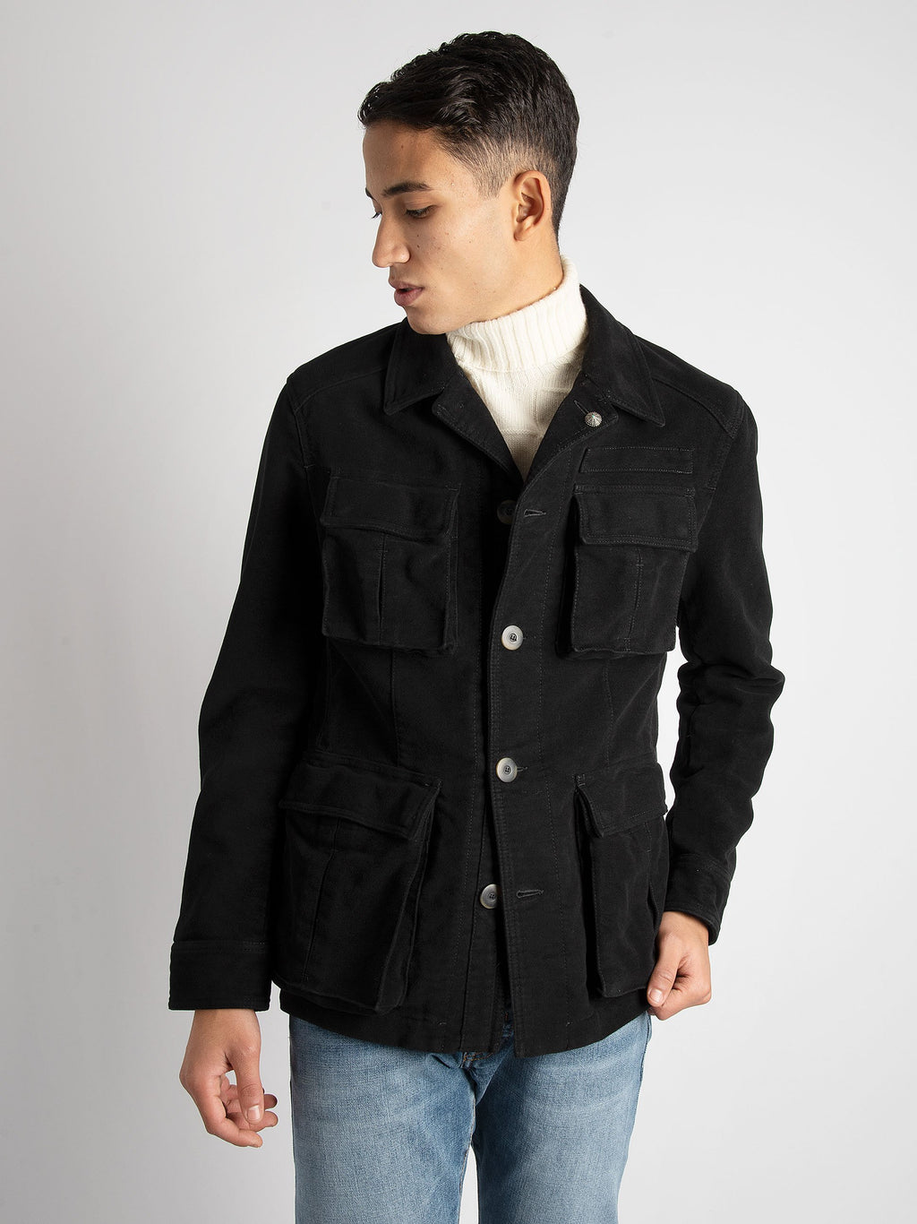 Field Jacket 'Amedeo' - Nero