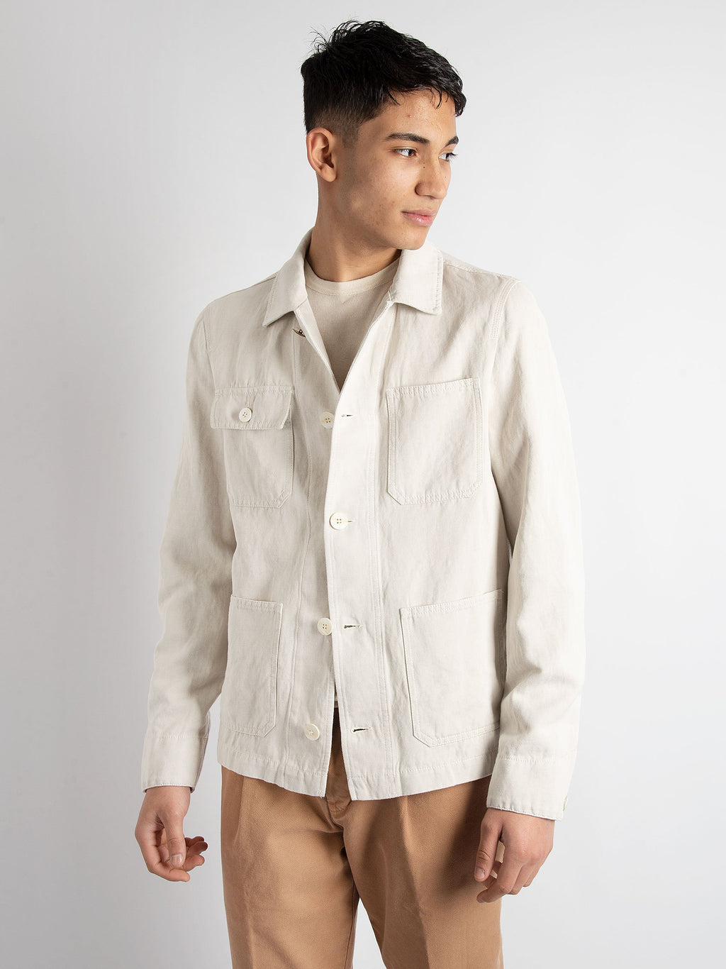 Work Jacket 'Boort' - Ecru