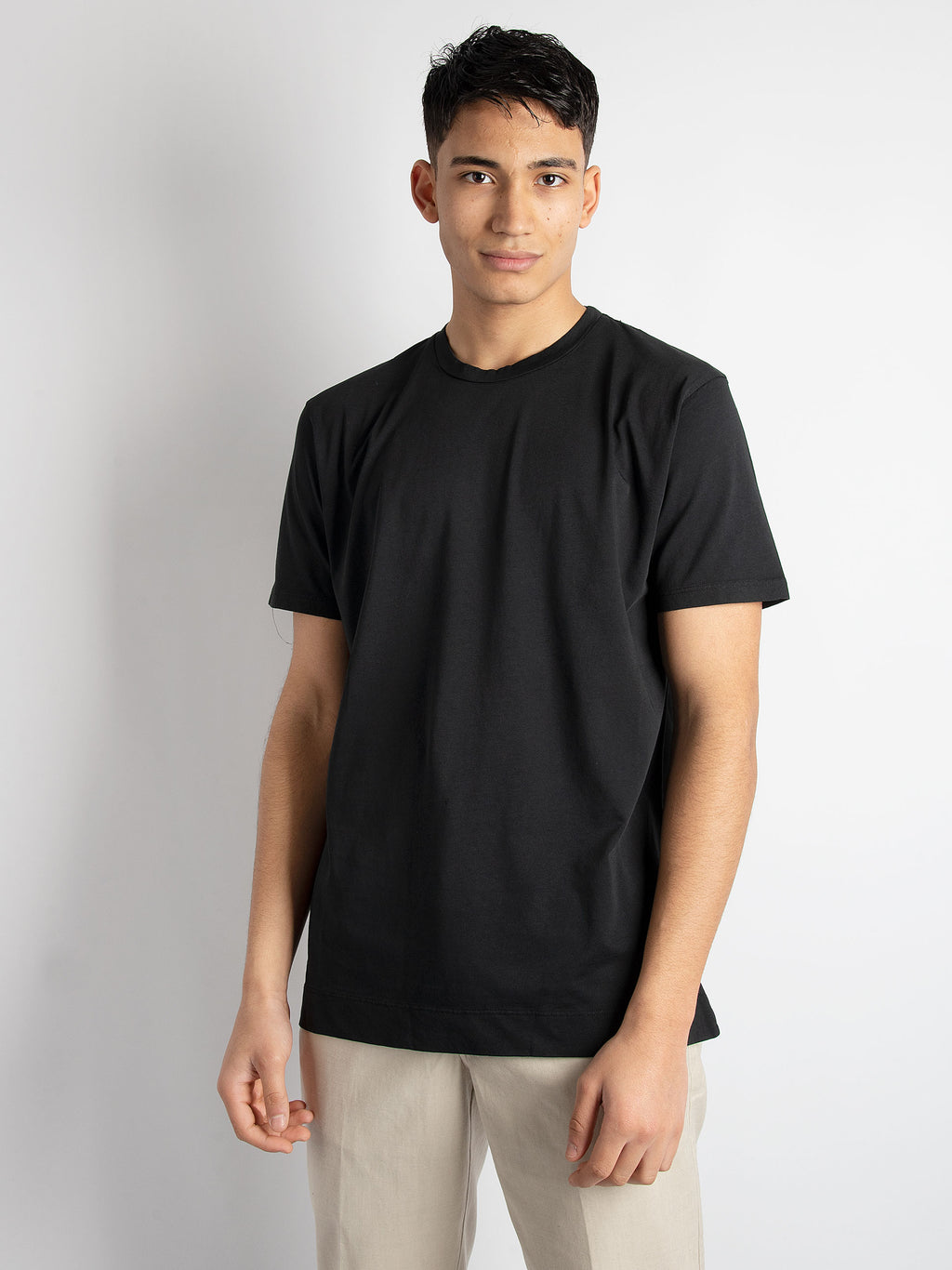T-shirt in cotone basic - Nero