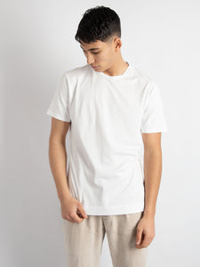 T-shirt in cotone basic - Bianco