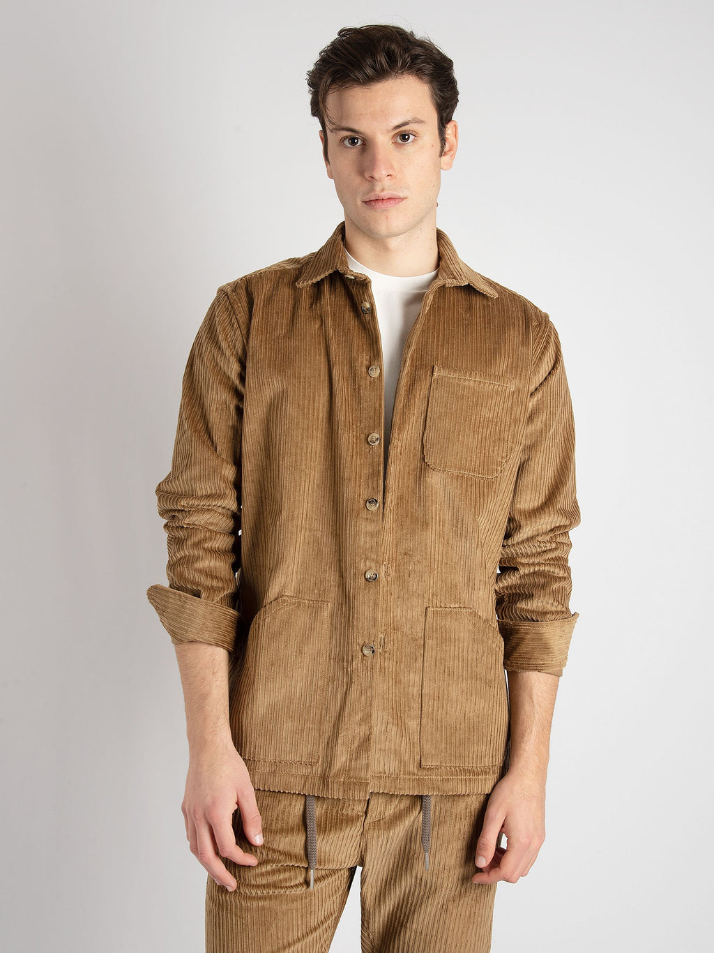 Over Shirt 'Monti' - Cognac