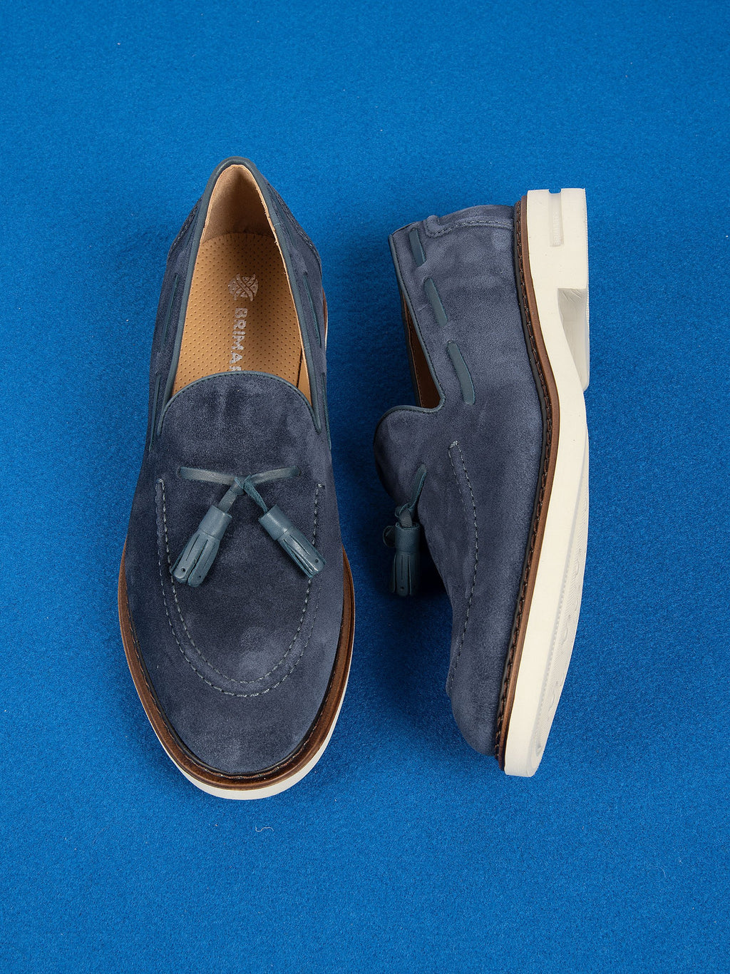 Mocassino Suede Nappine - Blu