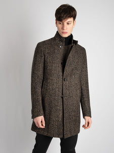 Cappotto 'Gordon' - Nero/Marrone