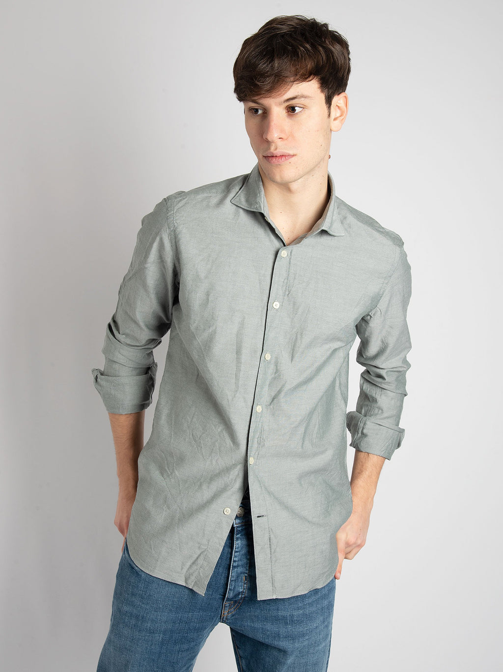 Camicia' Formal' Oxford - Verde