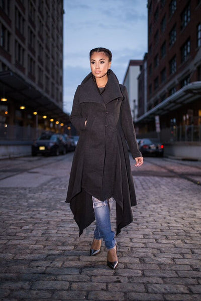 Abie Asymmetrical Coat