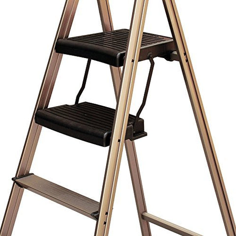 Fantastic Werner Usa Dual Platform Household Aluminium Step Ladder 4 Steps Special Edition Champagne Color Folding Xl Tool Tray Extra Wide Double Abs Gmtry Best Dining Table And Chair Ideas Images Gmtryco