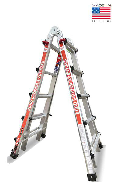 Euro Alta Mt17 4ft To 17ft Aluminium Ladder Height Adjustable 24 Lad Ladderterminal