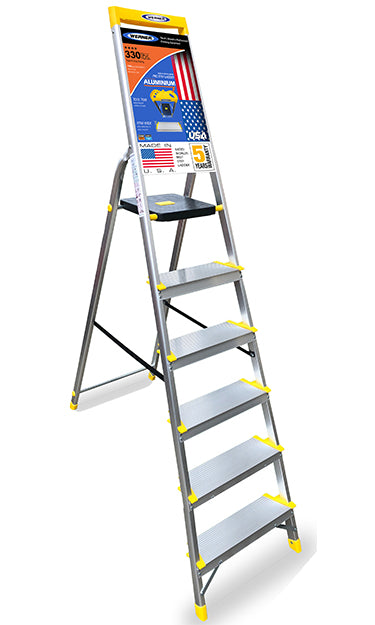 Cool Werner Made In Usa 6 Step Aluminium Ladder Heavy Duty Tool Tray Extra Wide Rung Aerospace Aluminium Top Seller World No 1 In Ladders Alphanode Cool Chair Designs And Ideas Alphanodeonline