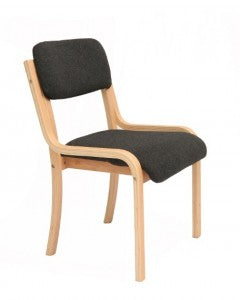 8no Beech Frame Reception Chair - Charcoal